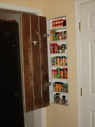 Storage For The Kitchen Good Use Of Space Between Studs In Wall Spice Rack For The
