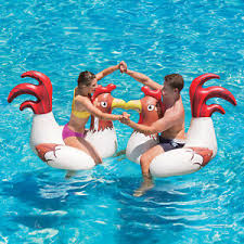 pool water with float.  Water Image Is Loading InflatablePoolWaterFloat2pkChickenFightSwimming For Pool Water With Float