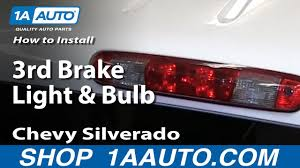 2013 Chevy Silverado 3rd Brake Light How To Change 3rd Brake Light Bulb 07 13 Chevy Silverado