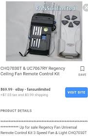 regency ceiling fans add remote control to any fan adding hunter