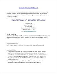 Sample Resume For Document Controller Monfilmvideo Com