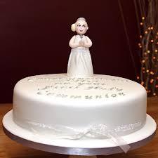 First Holy Communion Cake With Handmade Fondant Girl