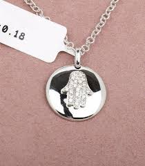 details about 14k solid white gold pave diamond chai disk pendant