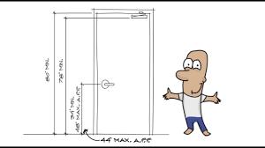 Decorating ada door requirements pictures : AC 007 - Basic ADA requirements for Door Clearances - YouTube