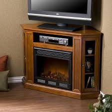 image of corner tv stand electric fireplace