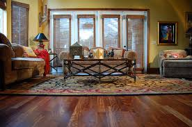 Caribbean Rosewood Hardwood Floor Tropical Living Room