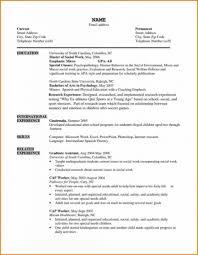 Social Work Resume Template Graduate School Templates Stock Photos
