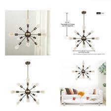 12 lights satellite sputnik chandelier oil rubbed bronze industrial vintage