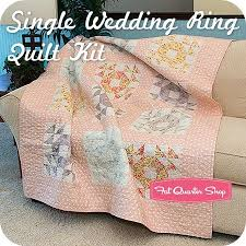 11 best Single Wedding Ring Quilt and Blocks images on Pinterest ... & Single Wedding Ring Quilt Kit<br/>Featuring Whitewashed Cottage by 3  Sisters. Adamdwight.com