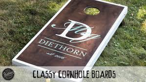 Wooden Corn Hole Game How To Build A Set Of Classy Custom Cornhole Boards YouTube 88