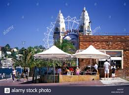 olympic swimming pool background. Outdoor Cafe Olympic Swimming Pool North Sydney With Luna Park In Background Australia