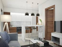 Open Concept Kitchen And Living Room Minimalist