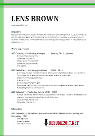 Resume Format 2017 Best 3811 Easy Examples Of Chronological Resumes With Additional Chronological