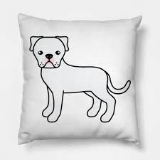 American Bulldog Height Chart White American Bulldog Dog Cute Cartoon Illustration