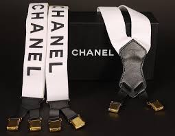 chanel suspenders. chanel letter logo suspenders white rare vintage - garo luxury authentic handbags \u0026 jewelries