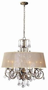 belle marie 6 light crystal chandelier w shade in antique gold wi194690