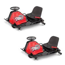 razor crazy cart electric 360 spinning drifting kids ride on go cart 2 pack walmart
