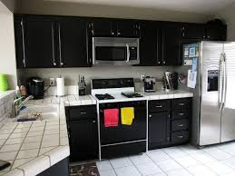 Painted Black Kitchen Cabinets Painting Old Kitchen Cabinets Black