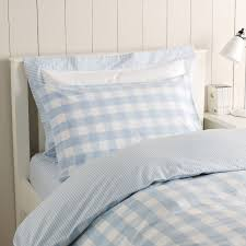 reversible gingham duvet cover also in pink great kids bedding and sheets at this