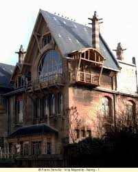 art nouveau architecture history. one characteristic of the ecole de nancy is large range objects touched by art nouveau: tapestry work, wall paper, metal cast iron, nouveau architecture history