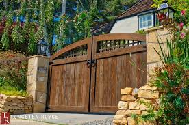 driveway gates that were distressed with an advanced aging process in to give it