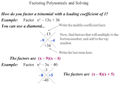 factoring polynomials and solving