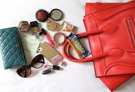 Bottom of a woman's purse