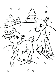 Rudolph Color Page O1790 The Red Nosed Reindeer Coloring Pages On
