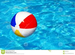 pool water with beach ball. Beach Ball In Swimming Pool Water With A
