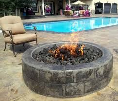 25 inch gas fire pit kit 125 000 btu with electronic ignition