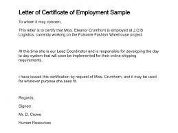 2018 New Request For Certificate Employment Employment Letter Of
