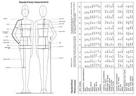 Costume Measurement Sheet Template Printable Body Measurement Chart For Sewing Www
