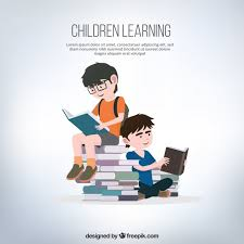 reading open book cartoon person learning by reading icons