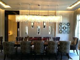 modern dining room chandeliers long
