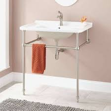 console sinks for small bathrooms elegant sink with metal legs finest design bathroom throughout 11