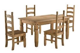 birlea corona 5ft dining set table 4 chairs waxed pine amazon co uk kitchen home
