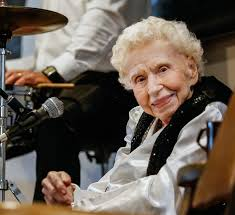 Jazzy and snazzy, 97-year-old band singer keeps the beat ...