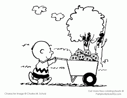 Charlie Brown Thanksgiving Coloring Pages Blogspot Colorinenet