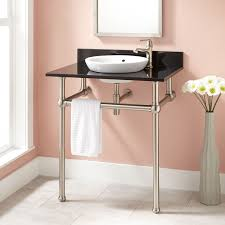 Modern Art Deco Bathrooms 30 Casey Art Deco Semi Recessed Console Sink Art Deco Bathroom