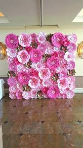Hanging Paper Flower Backdrop Paper Flowers Wall Decoration Paper Flower Wall Decor Michaels