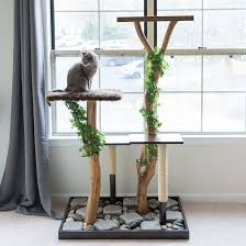 make a cat tree using real branches