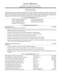 Resume Template Construction Foreman Resume Sample Examples