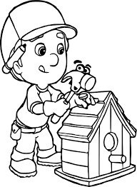 Small Picture Manny And Pat Fixing A Bird House Coloring Page Wecoloringpage