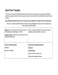 Quad Chart Template Fillable Online Quad Chart Template Fax Email Print Pdffiller