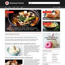 Restaurant Website Templates Magnificent Restaurant Reviews Website Template