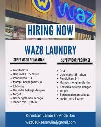 Lowongan kerja security medan, mei 2016. Supervisor Di Waz8 Laundry Informasi Lowongan Kerja Medan 2021 Terbaru Hari Ini
