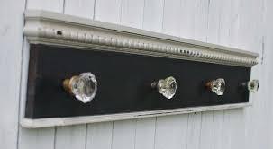 Knob Coat Rack Antique Glass Door Knob Coat Rack on Reclaimed Woodlarge Glass 19