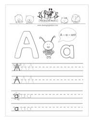letters practice sheet kindergarten worksheets for the alphabet the singing walrus