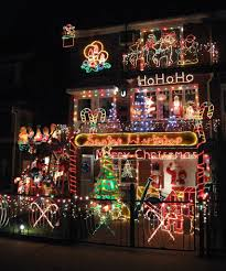 house with a lot of crazy christmas lights