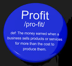 Free Photo Profit Definition Button Showing Income Earned From